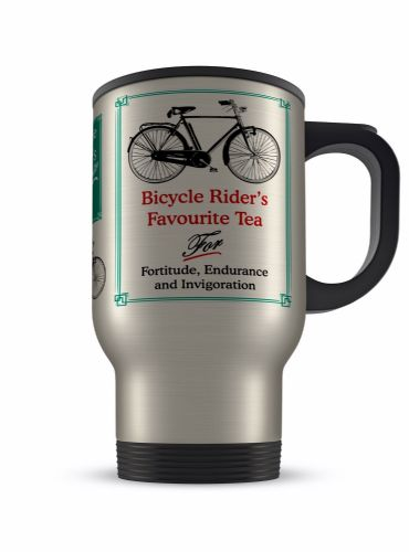 14oz Bicycle Riders Favourite Tea Novelty Gift Aluminium Travel Mug